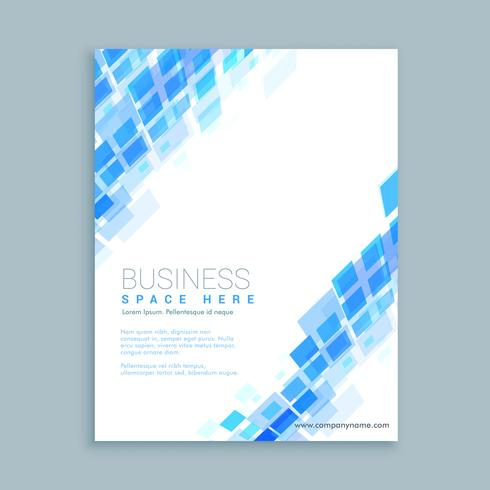 abstract shapes business flyer template