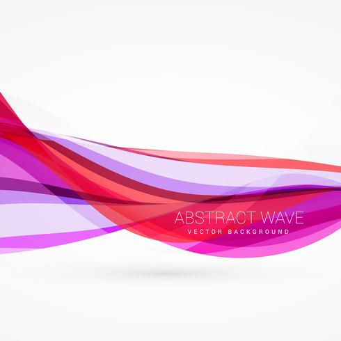 abstract pink color wave vector background design