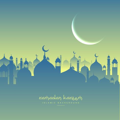 ramadan festival greeting with mosque shapes