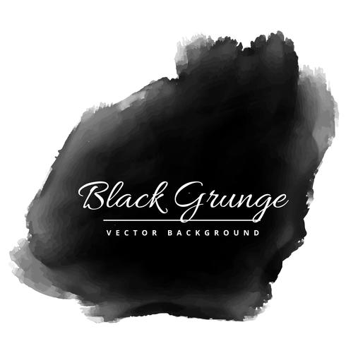 black grunge watercolor of ink vector design illustration