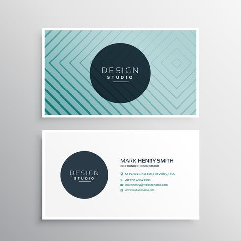 simple business card with line shapes