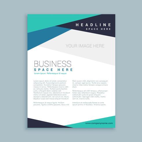 minimal företags varumärke broschyr mall