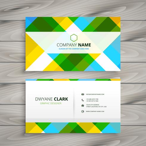 abstract patten business card template vector design illustratio