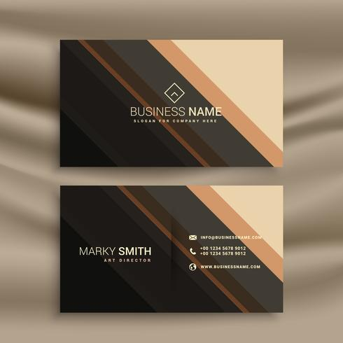 stripes business card with diagonal lines