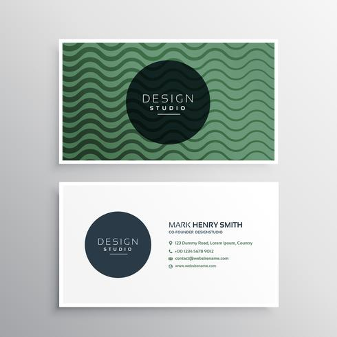 business card design with wavy lines