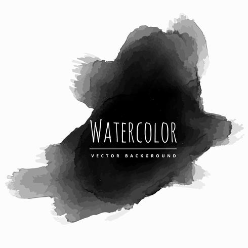 black watercolor brush strokes grunge vector design illustration