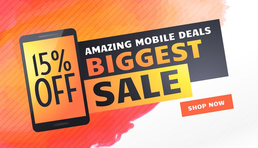 biggest sale banner, poster or flyer template