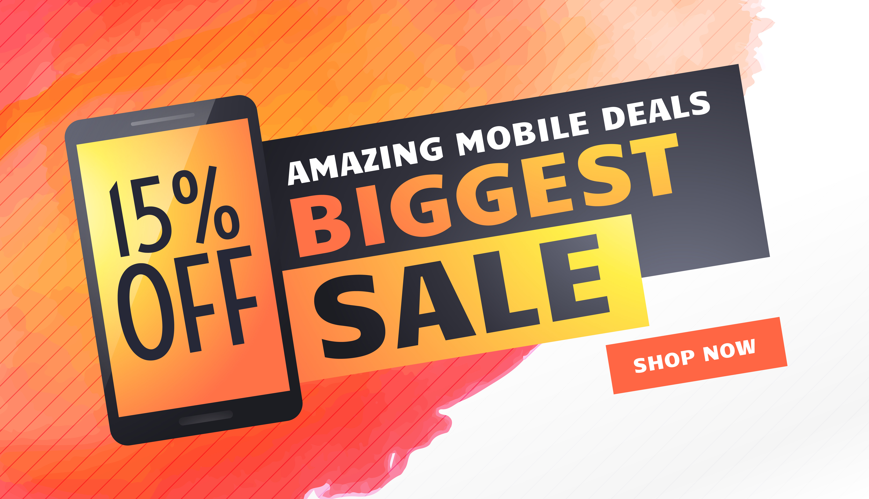 biggest sale banner  poster or flyer template