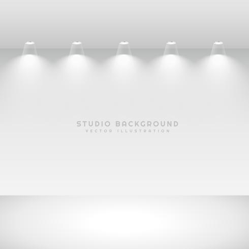 studio gallery interior with spot lights