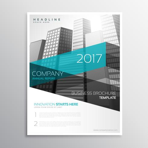 modern company brochure template presentation download free vector
