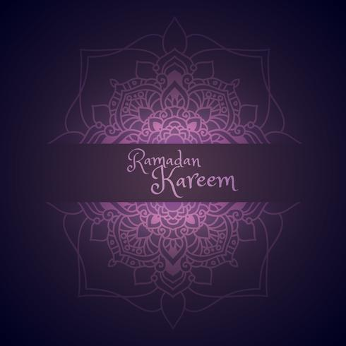 ramadan kareem greeting with mandala pattern