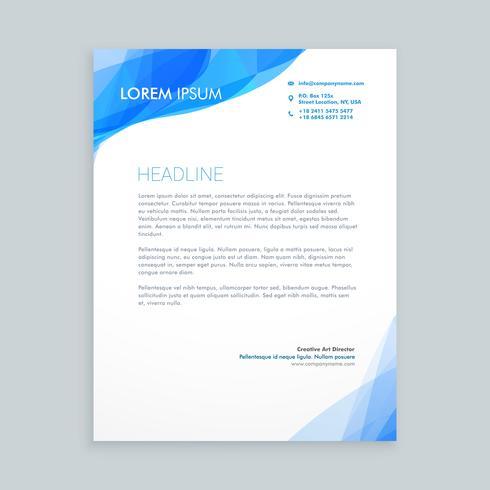 Creative blue wave letterhead template vector design illustrati creative blue wave letterhead template vector design illustrati spiritdancerdesigns Images