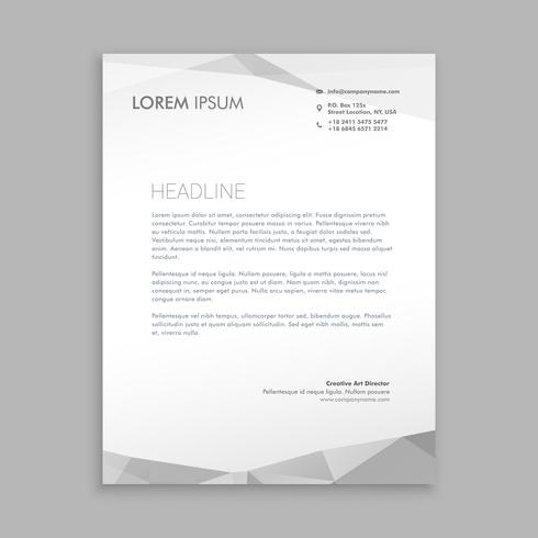 stylish modern letterhead template vector design illustration