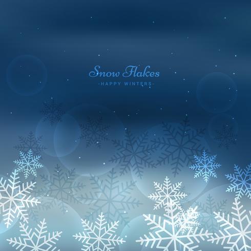flocons de neige d'hiver de Noël