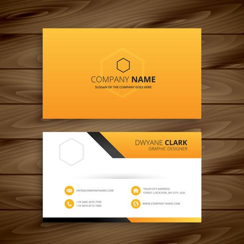 modern yellow business card. Business vector design illustration