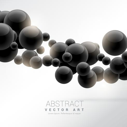 abstract black floating molecules vector background