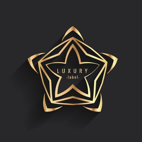 modelo de logotipo de rótulo de luxo