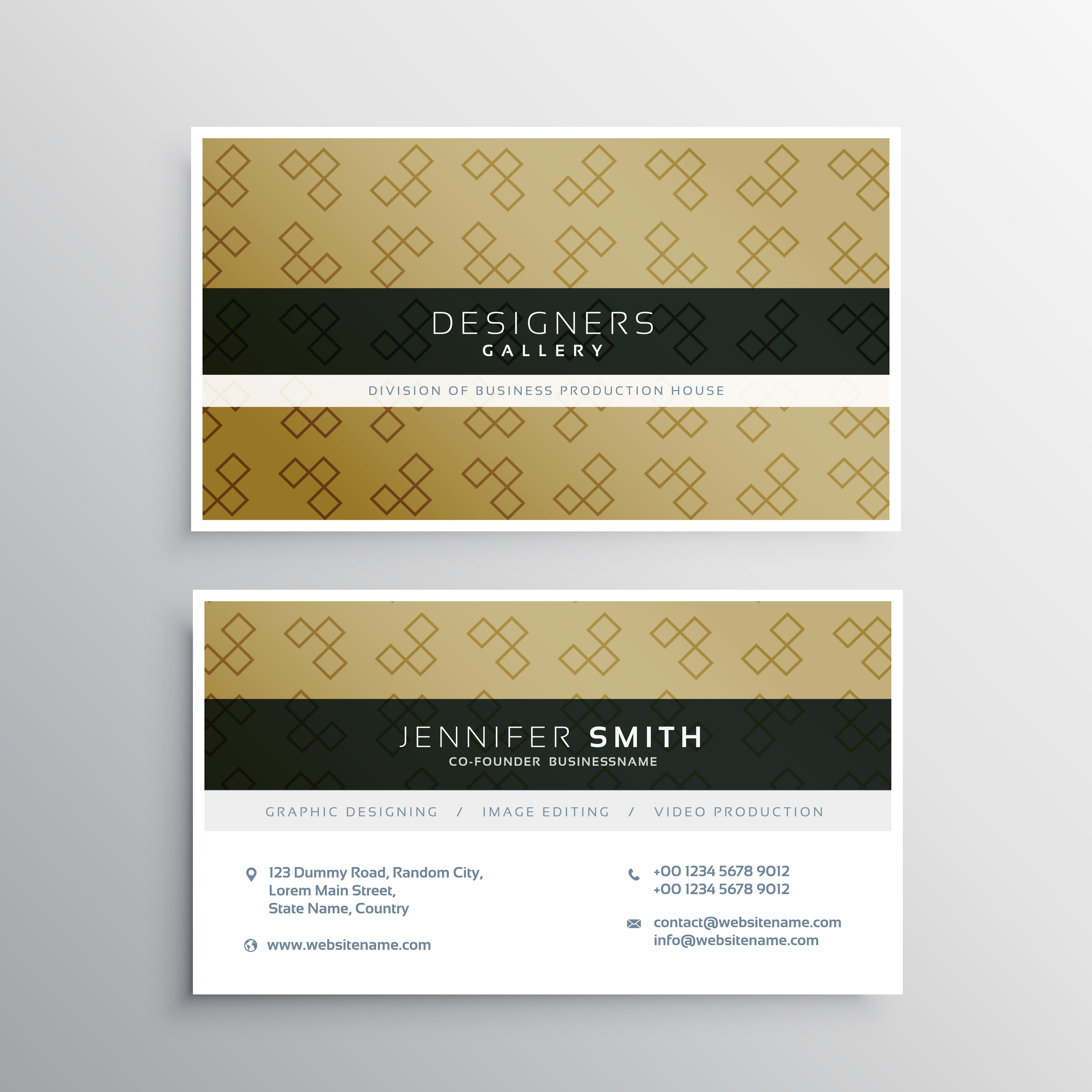 Company Business Card Layout Template Design Download Free Vector