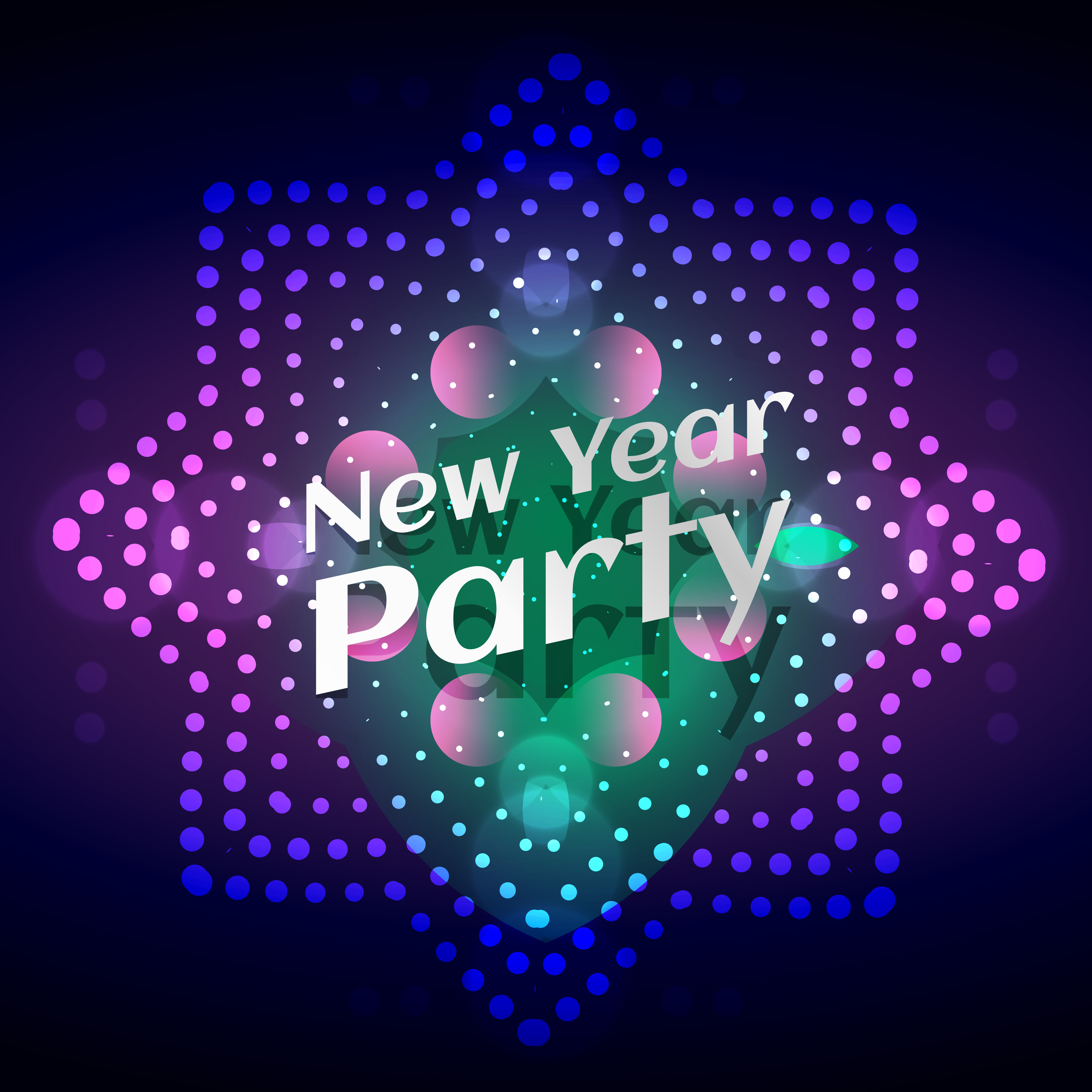 glow party free vector art
