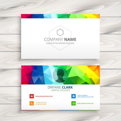 colorful business card vector design art illustration
