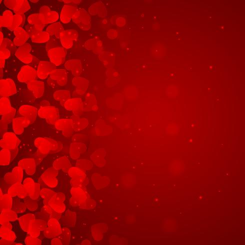 red background of hearts vector design illustration