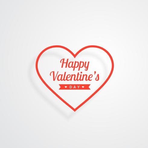 happy valentines day red heart vector design illustration