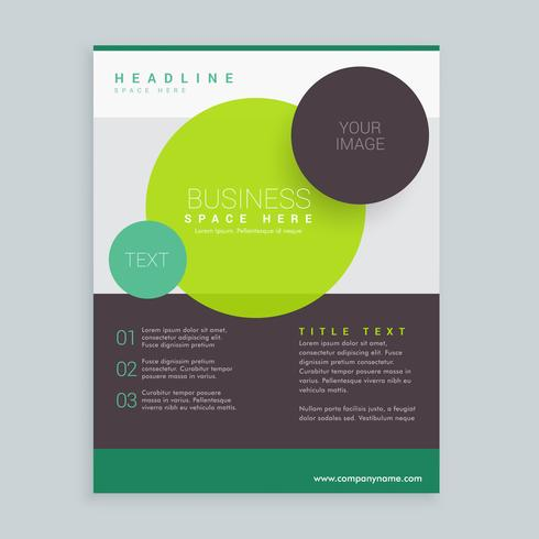 modern circles business brochure flyer design in A4 size