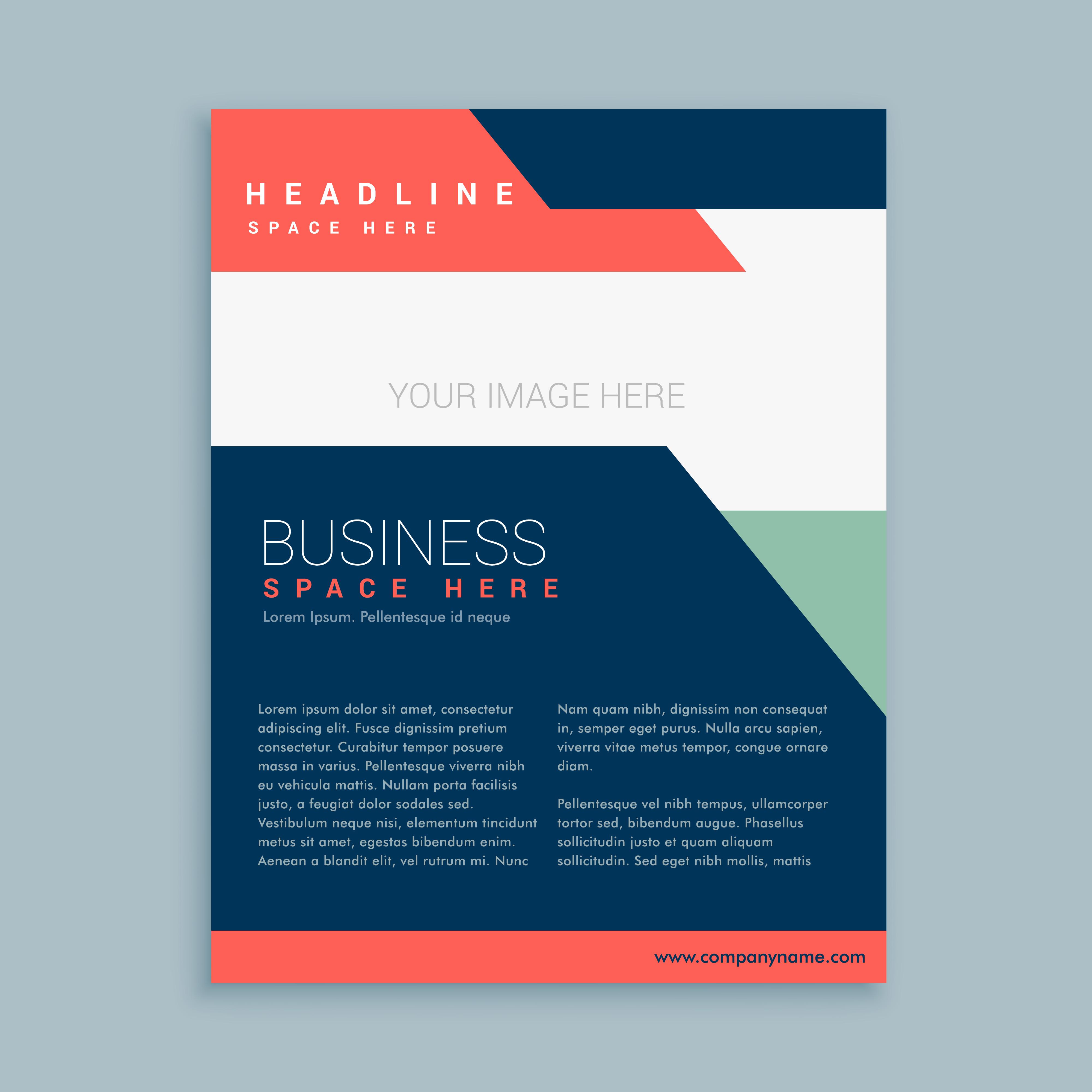 17 Corporate Brochure Design Template: Abstract Business Brochure Template Design