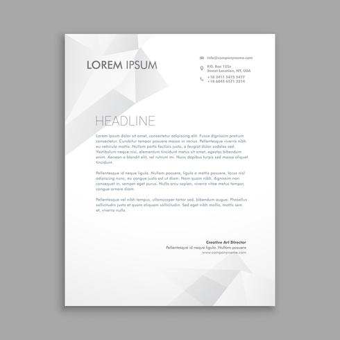 creative modern low poly letterhead template vector design illus