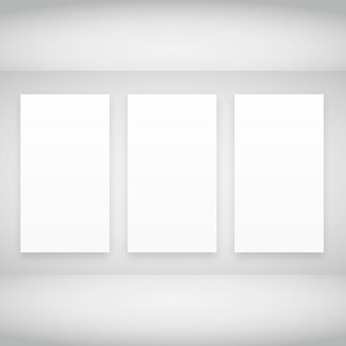 empty frames in white room