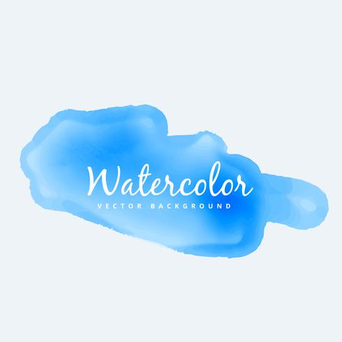 blue soft watercolor stain vector design illustration