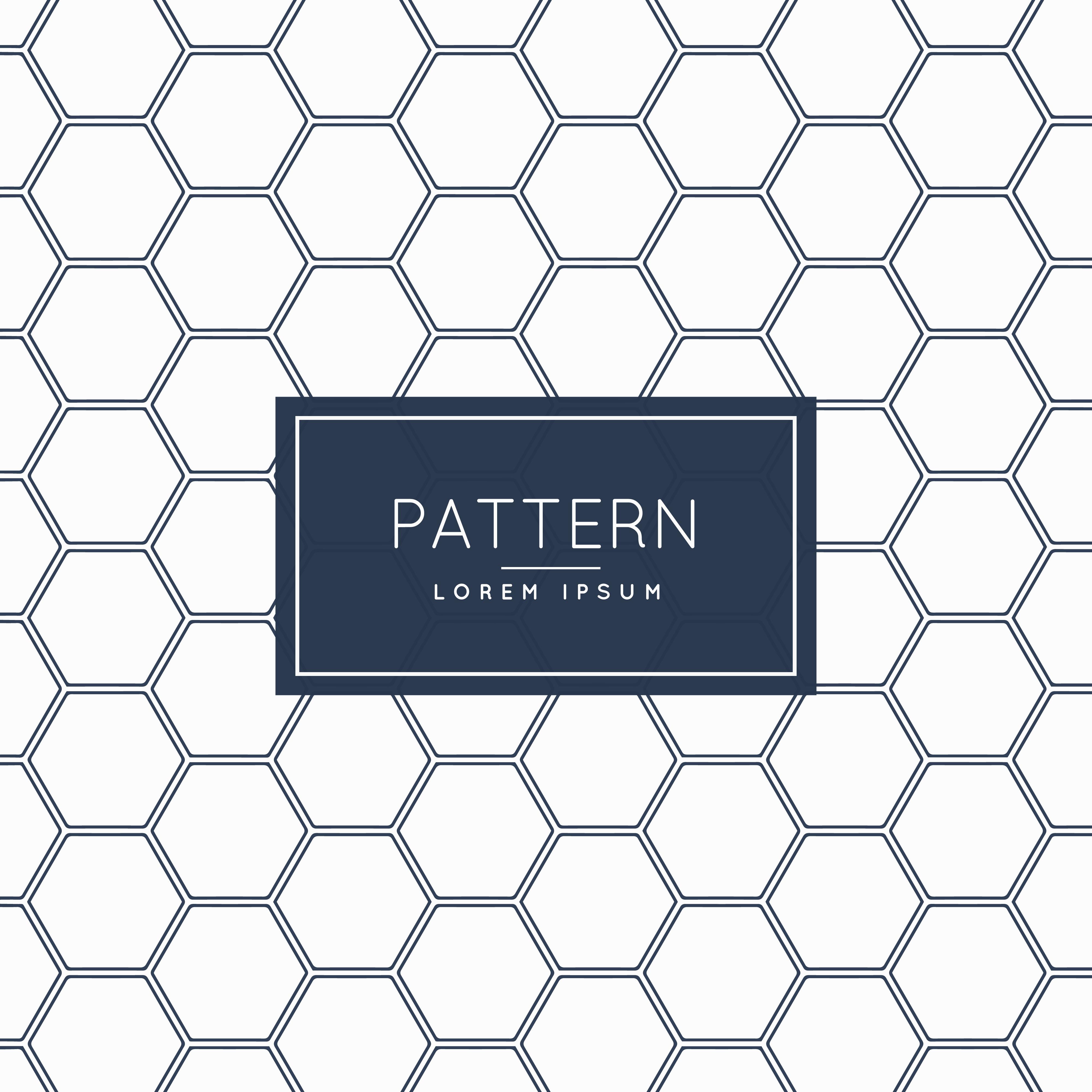 Hexagonal Shape Pattern Background