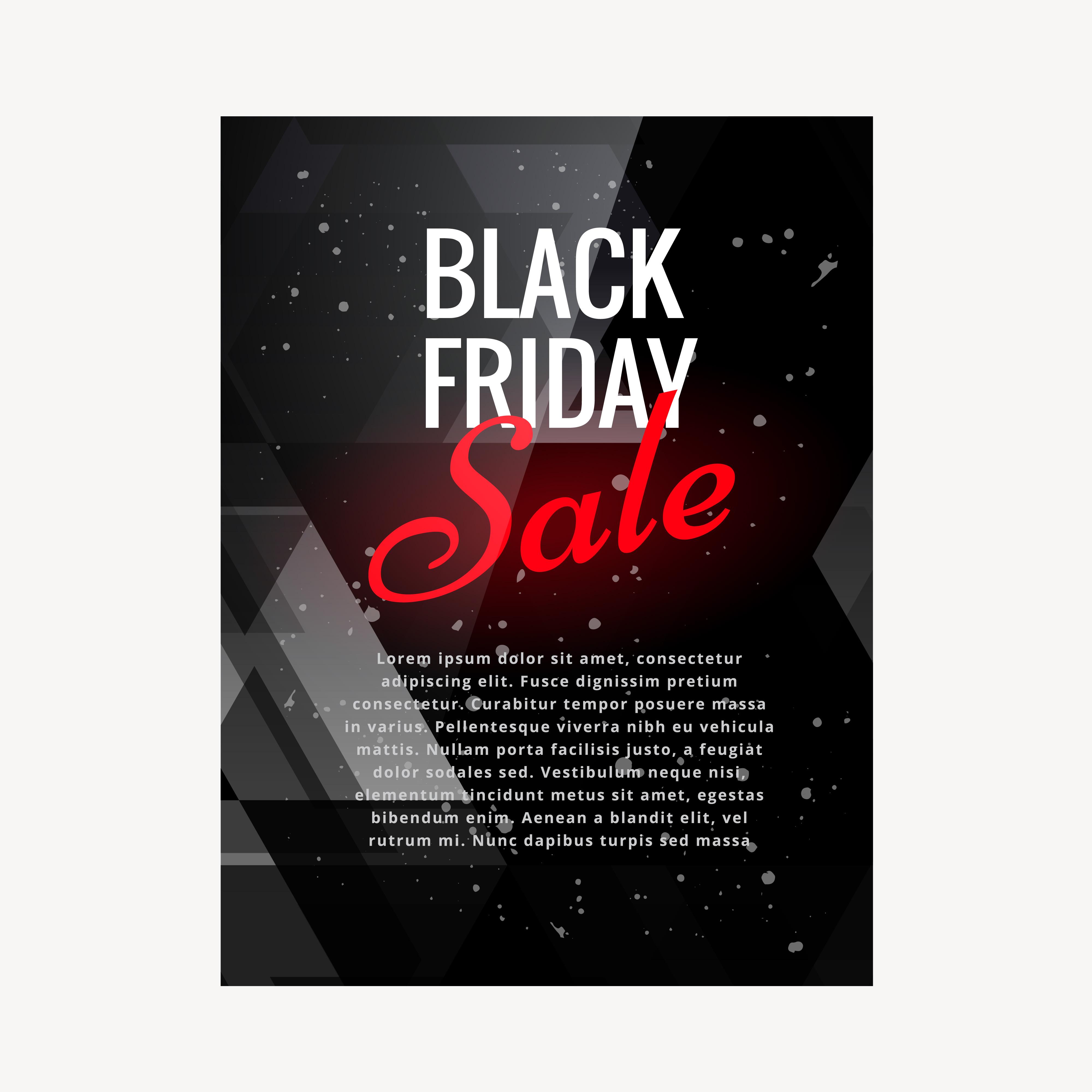 Black Friday Sale Brochure Design Illustration Download