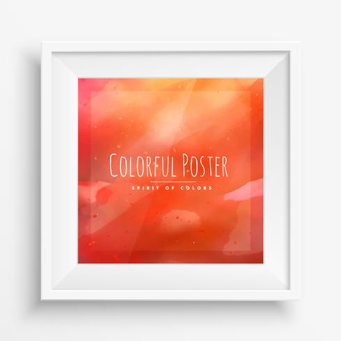 orange colorful poster