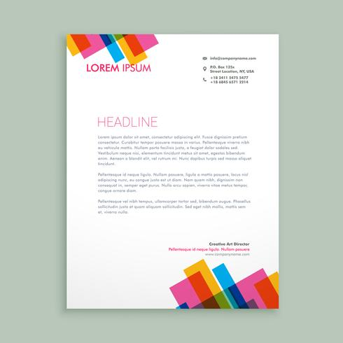 creative colorful letterhead  template vector design illustratio