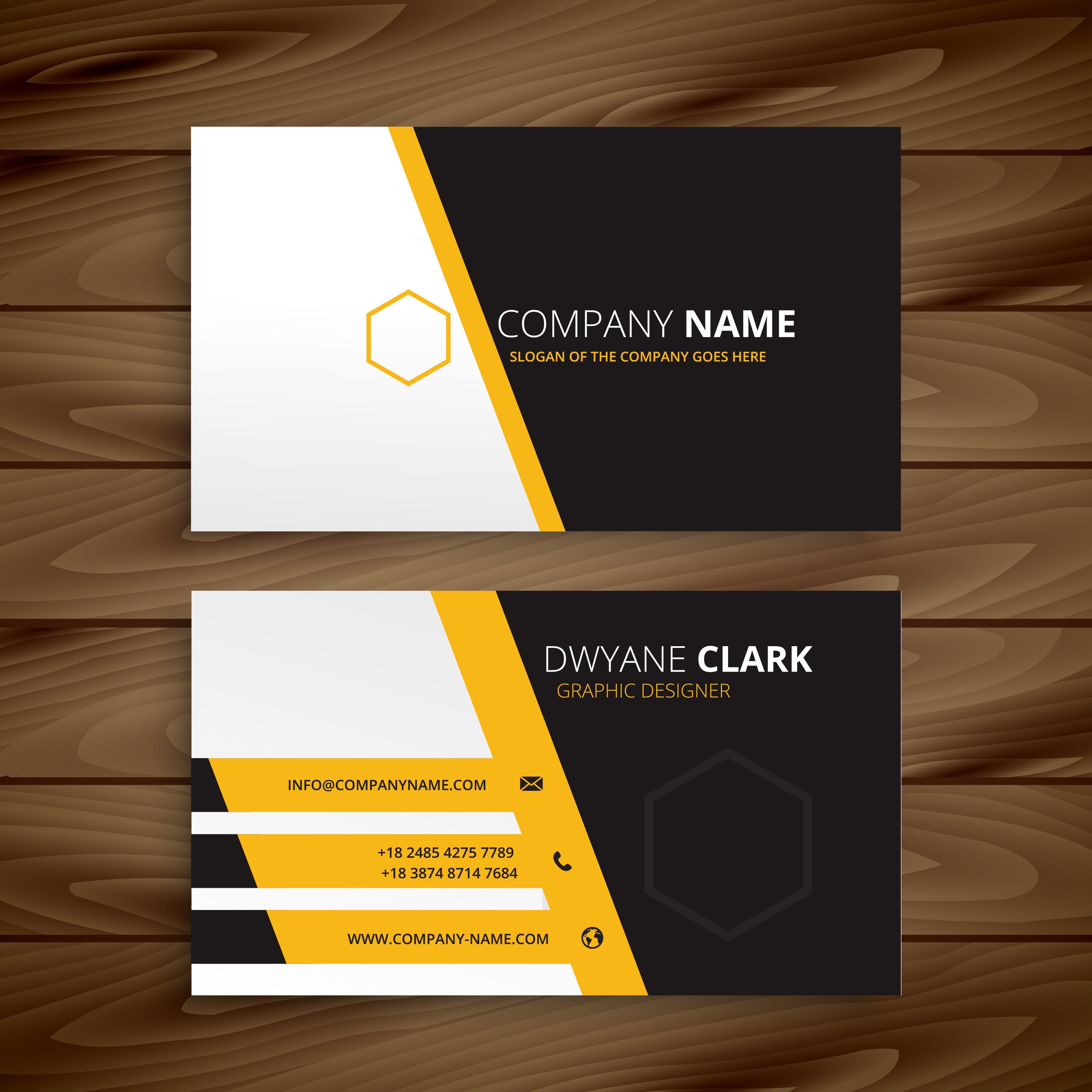 Business Card Layout Template: Modern Business Card Template Vector Design Illustration