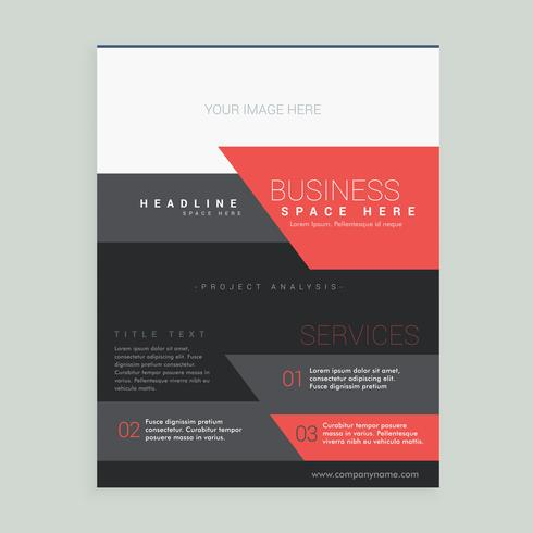 red and black business brochure design vector template in size A