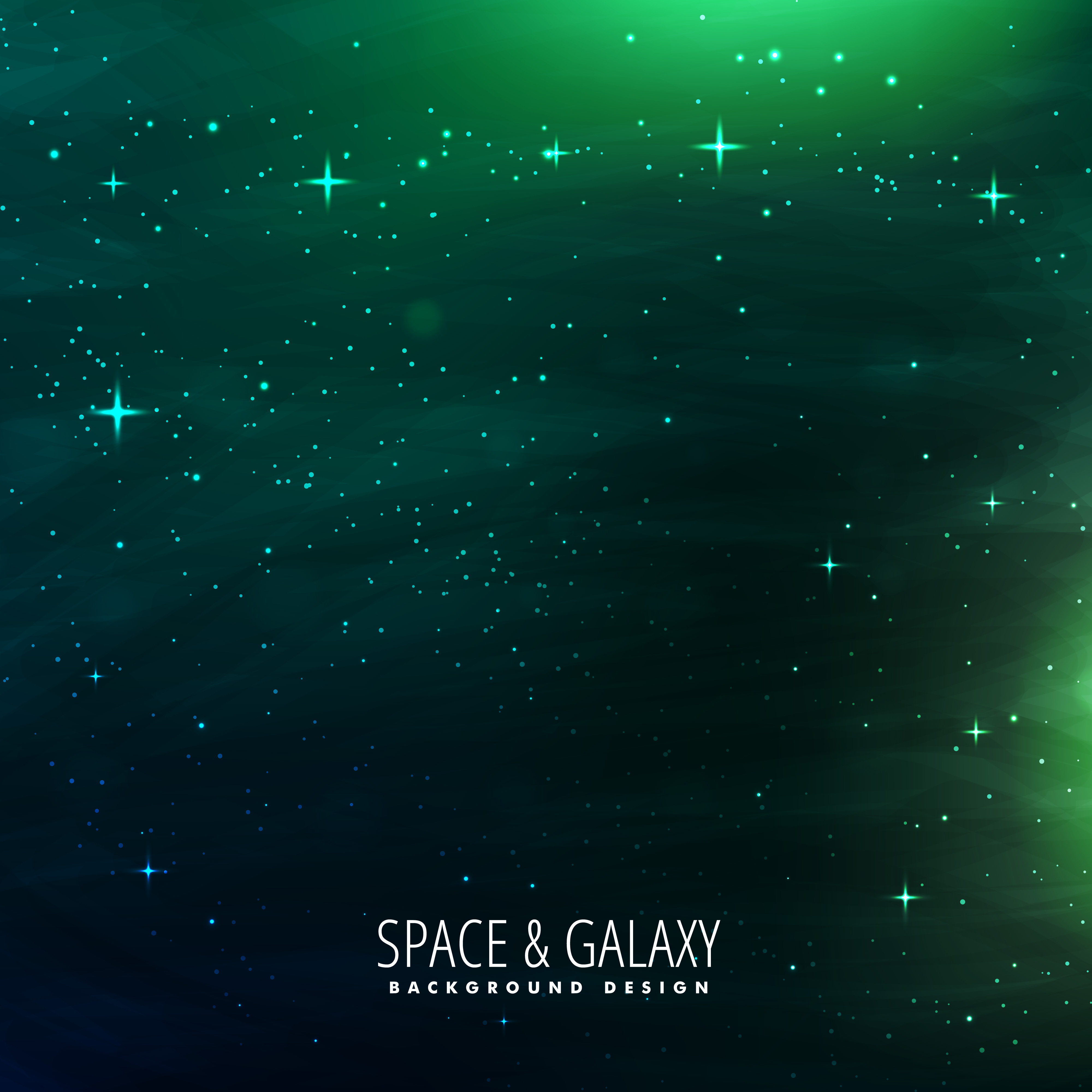 space background with green lights download free vector