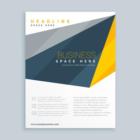 modern business leaflet presentation template