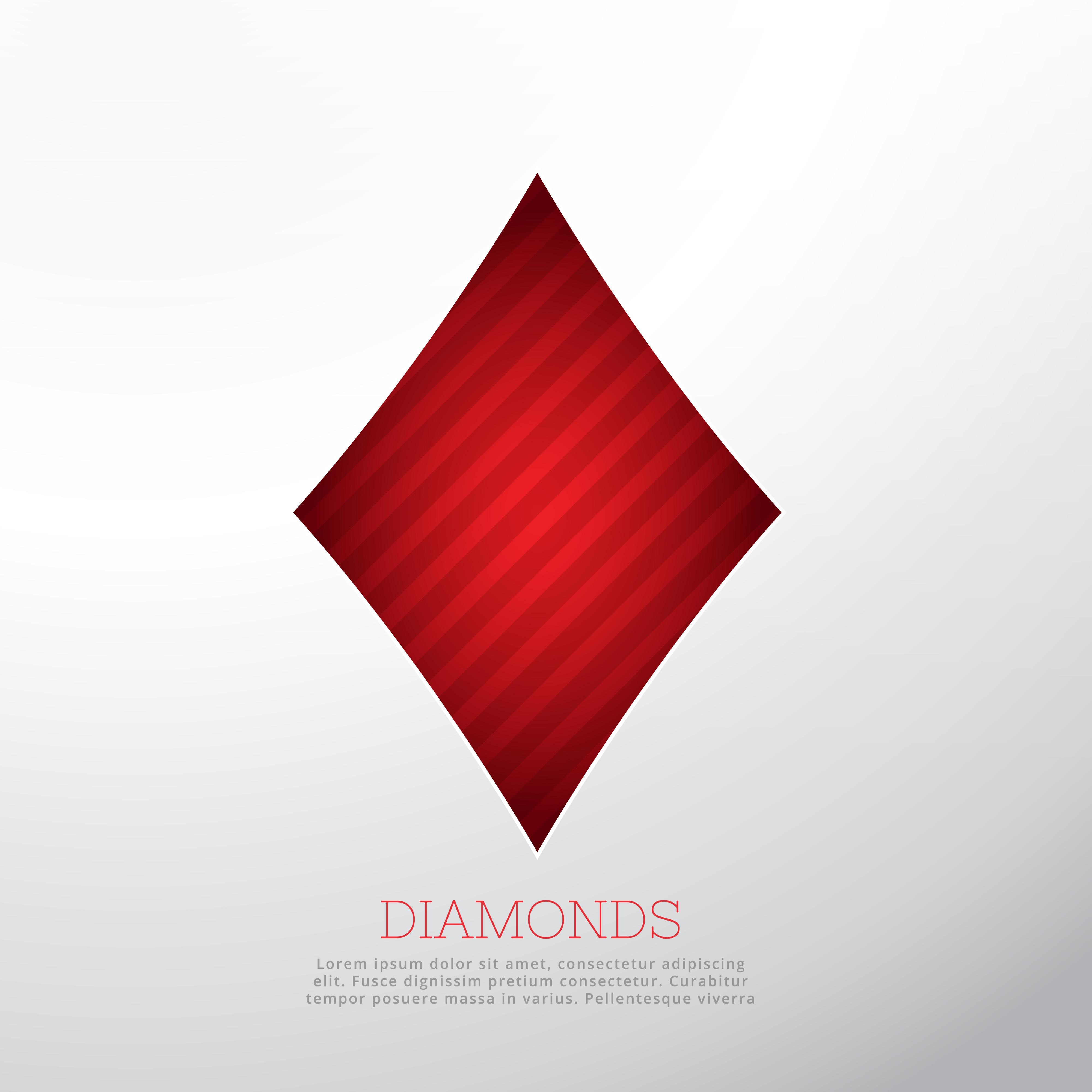 red diamond shape isolated on white background