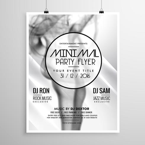 abstract party flyer template with smoke background