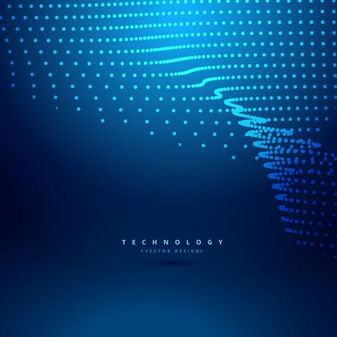 futuristic digital mesh dot wave vector design illustration