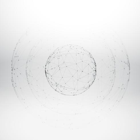 mesh wireframe sphere digital vector design illustration