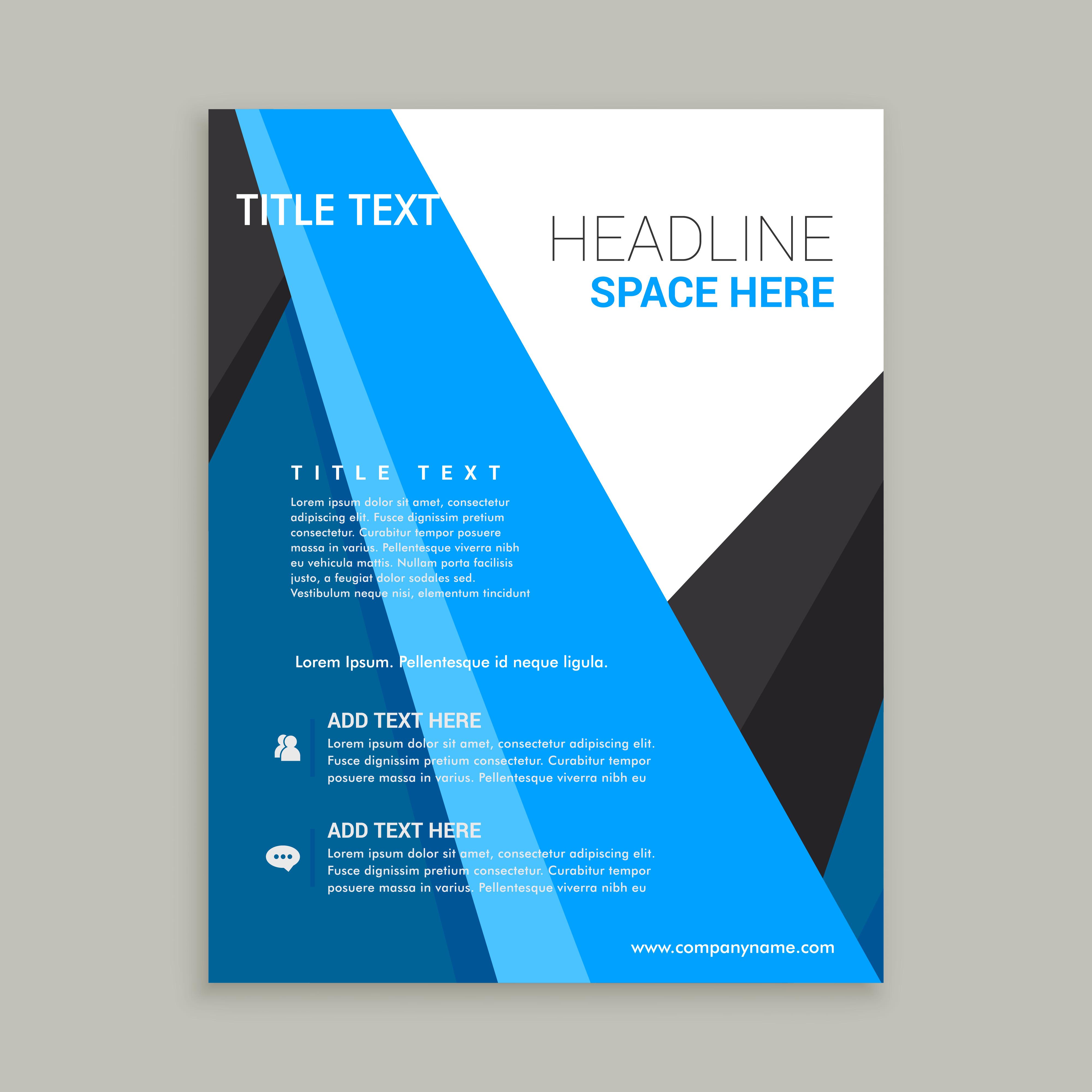 company business brochure flyer leaflet design