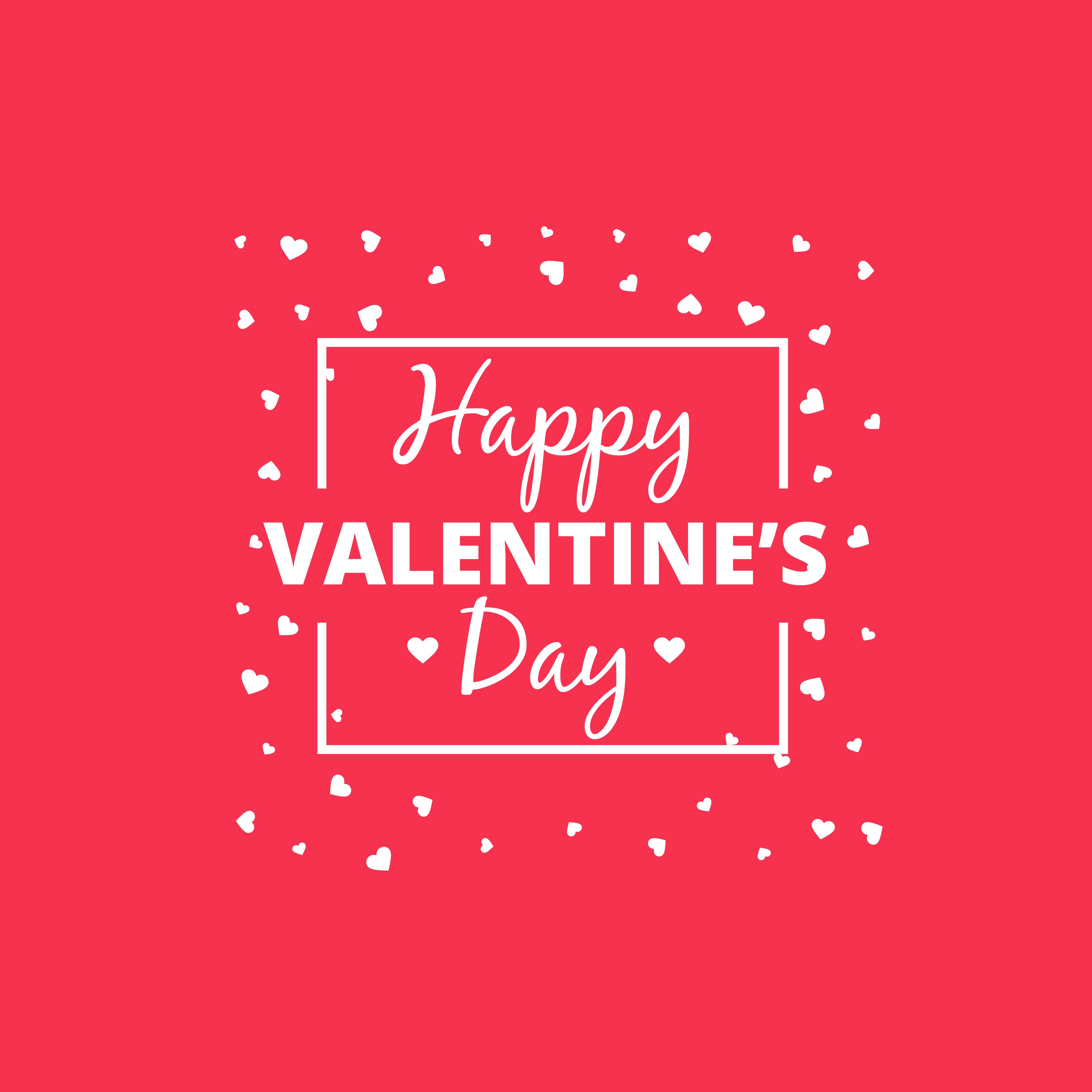 Valentine Day: Happy Valentines Day Heart Design Vector Design