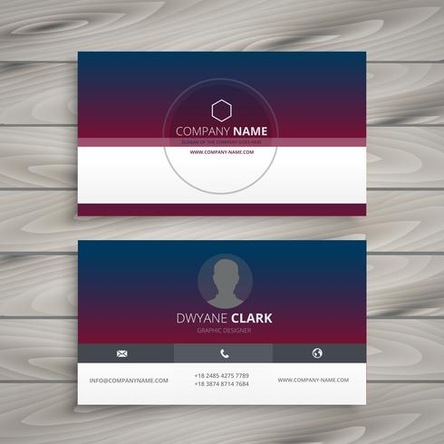 clean visit card template vector design illustration