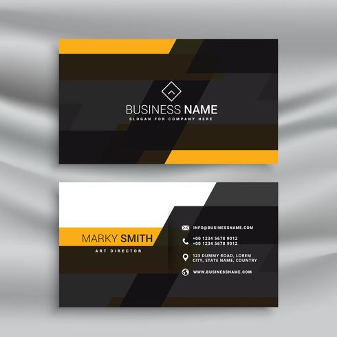 Yellow and black elegant business card template design download yellow and black elegant business card template design reheart Images