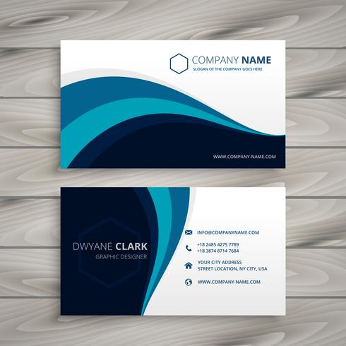 business with blue wave style  template vector design illustrati