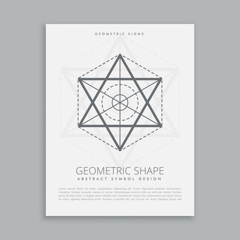 forma de geometría sagrada espiritual