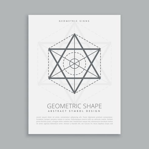 forma de geometria sagrada espiritual